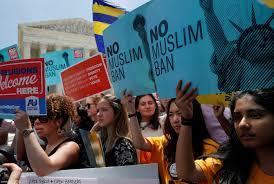 Protesta en NY cntra la prohibicion de Trump a los viajeros. Foto: Brookings Institution