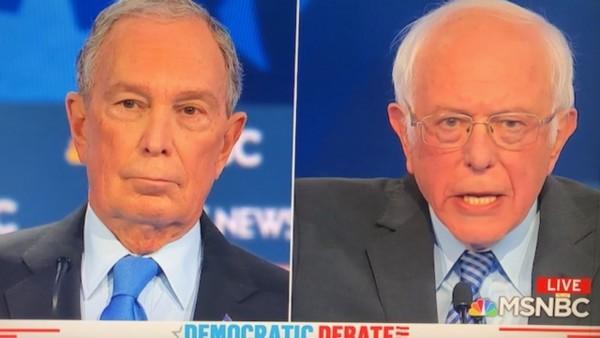 Michael Bloomberg y Bernie Sanders. Foto: VTDeagger.org.