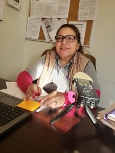 María Ángela Callejas. Muchos de sus clientes la consideran un ángel, por la pasión con la que los ayuda.
