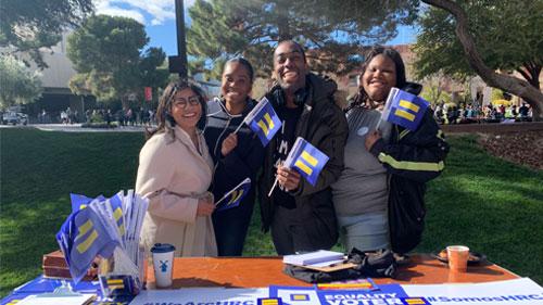 Entrenamiento previo al caucus en Nevada. Foto: www.hrc.org.
