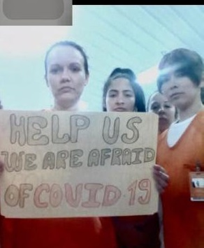 Daimy Garcia Aguilara protesta en carcel de ICE n Louisiana