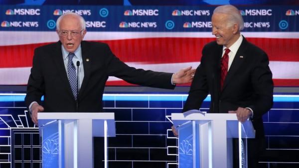 Senador demócrata por Vermont, Bernie Sanders, y el exvicepresidente Joe Biden. Foto: Action Network.