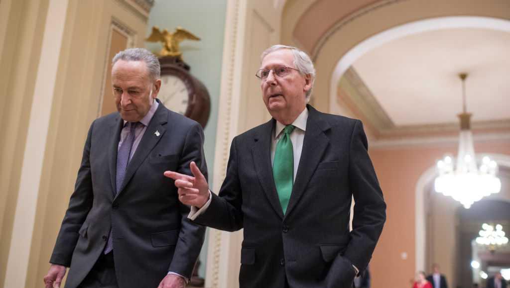 Schumer y McConnel a punto de alcanzar un acuerdo. Foto: www.wyff4.com.