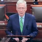 El líder de la mayoría republicana en el Senado, Mitch McConnell.