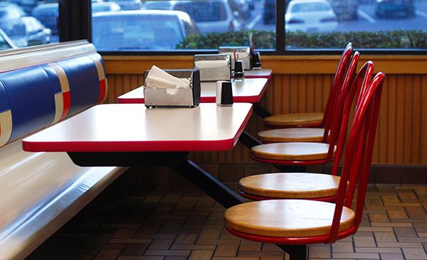 Restaurante vacío debido a la pandemia de Covid-19 que ordenado a los negocios a cerrar sus puertas mientras pasa la crisis. Foto: página web del Small Business Majority.
