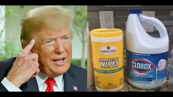 Donald Trump promuevo inyectar al cuerpo productos desinfectantes en base a cloro y darse baños de rayos Ultra Violeta para combatir el coronavirus. Foto: YouTube.