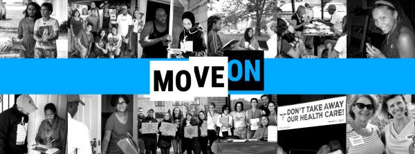 Una miembra de MoveOn realizando la encuesta sobre la inequidad en la ayuda del PPP para negros y latinos. Foto: MoveOn.