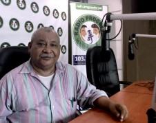 Padre Melo, en los microfonos de Radio Progreso.