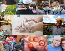 Mosaico de latinos que viven en Estados Unidos y que están expuestos al contagio del coronavirus. Foto: https://salud-america.org.