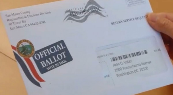 Boleta electoral enviada por correo en el estado de California. Foto: https://spectrumnews1.com.