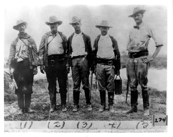 Rangers texanos de la época de la masacre en poblado fronterizo con México, El Porvenir, Texas. Foto: Texas Public Radio.