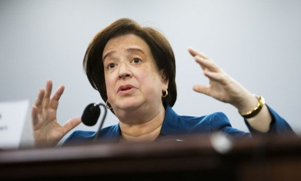 La jueza Elena Kagan durante una audiencia de la Corte Suprema de Estados Unidos. Foto: Diego M. Radzinschi / Law.com.