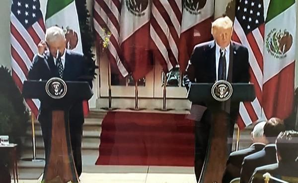 Los presidentes de México y de Estados Unidos en la Casa Blanca.