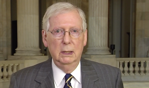 Senador de Kentucky líder del Senado, Mitch McConnell.