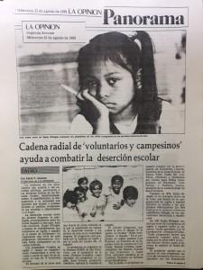 El periódico La Opinión reportó en su oportunidad una de las etapas de expansión de los programas de Radio Bilingüe.
