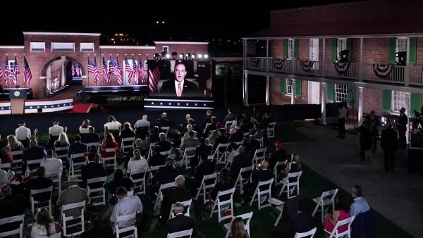 En el tercer noche de la Convención Nacional Republicana en el Fuerte McHenry en Baltimore. Foto: https://www.wsbtv.com.