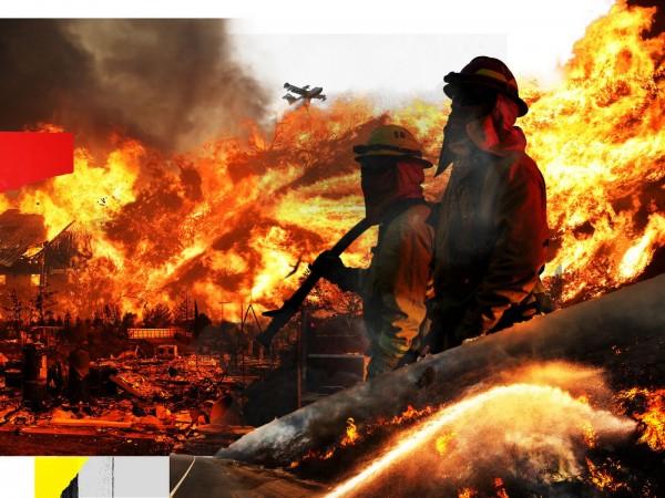 Uno de los incendios en San Bernardino National Forest. Foto: https://www.vox.com.