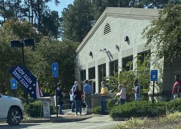Votantes en Georgia.