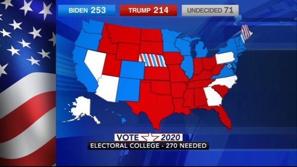 Hoy Pensilvania, Michigan y Nevada certifican hoy los resultados de las elecciones generales de 2020. Foto:  https://6abc.com.