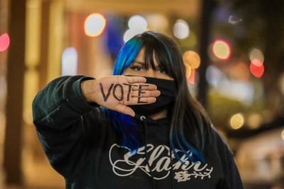 Una de las miembras de las organizaciones de derechos de inmigrantes que  motivaron a los jóvenes latinos a votar en Georgia.