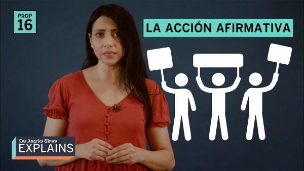 Esta joven mujer explica el contenido de la Prsición 16, que fue rechazada en las urnas en 2020. Foto: YouTube.