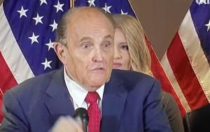 Rudolph Giuliani, en calidad de abogado de Trump en la demanda en Georgia.