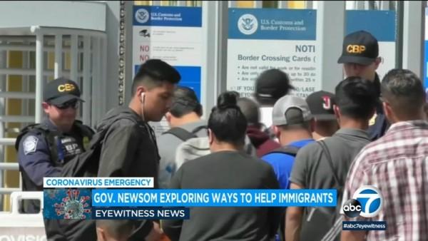 El gobernador de California, Gavin Newsom está presionando por un paquete de estímulo económico para inmigrantes indocumentados y otros no cubiertos por el paquete de estímulo federal aprobado por el Congreso. Foto: https://abc7news.com.