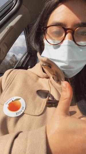 Stephanie Gutiérrez votó por primera vez en una segunda vuelta y motivó a sus hermanos a participar en los comicios.