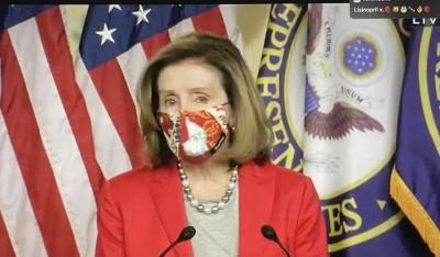Nancy Pelosi, legisladora demócrata de California y Presidenta de la Cámara de Representantes, quien le tomó de inmediato la palabra al presidente y convirtió en propuesta legislativa la oferta de subir a 2 dos mil dólares la ayuda económica por la pandemia a los estadunidenses.