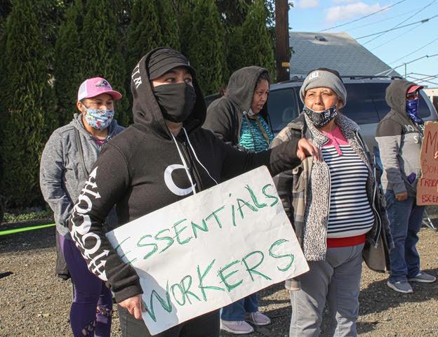 Campesinos del valle del Río Skaigit en la lucha por el pago salarial de horas extras. Foto: Familias Unidas por la Justicia.