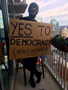 El activista y candidato al Congreso de Georgia por el Distrito 11, Antonio Daza, afirma que la ley aprobada de supresión del voto atenta contra la democracia.