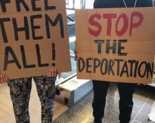 Familias demandan la liberacion de los detenidos.