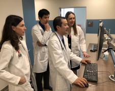 Shortly after starting work at Community Regional Medical Center in Fresno, California, Dr. Christian Faulkenberry-Miranda (left) began seeing some babies with a rash on their tummies that looks like a blueberry muffin. But some babies with syphilis have no outward symptoms at all. (UCSF FRESNO)