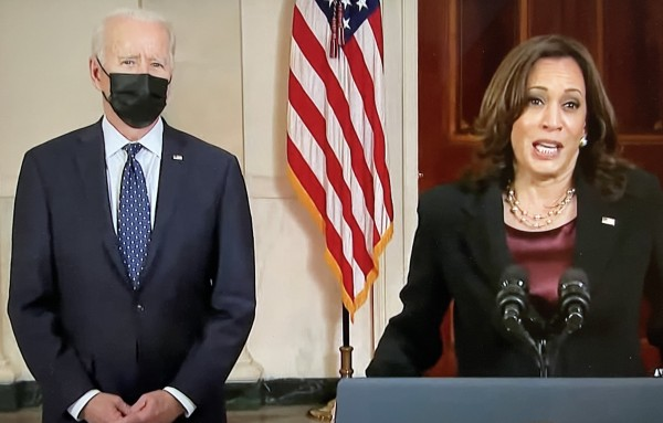 La Vicepresidenta de Estados Unidos y el Presidente Joe Biden opina sobre la necesidad de una reforma al sistema de justicia penal tras el veredicto de culpabilidad del expolicía Derek Chauvin.