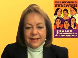 Senadora estatal de California, María Elena Durazo, introduce en el parlamento estatal la propuesta de ley SB 321 por segunda ocasión.