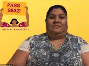 Vicenta Martínez, trabajadora doméstica que fue expuesta al peligro de contraer el coronavirus en su lugar de trabajo en el sur de California.
