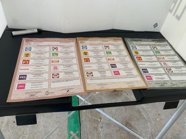 Boletas electorales en la ciudad de México. Foto: Citlali Sáenz.