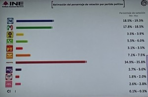 Porcentajes preeliminares. Foto: INE.