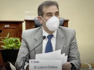 Lorenzo Córdoba, presidente del Instituto Nacional Electoral (INE), uno de los organismos que monitorea las elecciones del domingo en México. Foto: José López Zamorano.