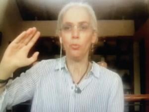 Pamela San Martin, analista política. Foto: José López Zamorano.