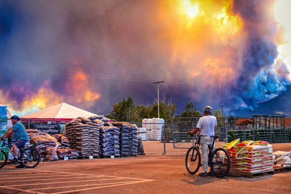 Incendio en la cordillera Bitterroot, en el este de Montana. Foto: https://mtstandard.com.