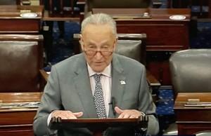 Charles Schumer, líder de la mayoría demócrata en el Senado e impulsor del proyecto de infraestructura, de 3.6 billones (millones de millones) de dólares . Foto: José López Zamorano.