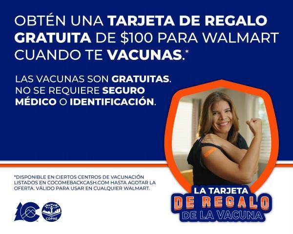 Cartel promocional de la campaña de vacunación en el condado de Mesa Colorado.  Foto:   Mesa County Public Health.