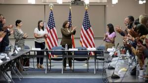 """La Vicepresidenta de Estados Unidos, Kamala Harris aplaudió a los legisladores demócratas de Texas y llamó """"sin vergüenza"""" a los republicanos, y lo hizo a través de la TV en cadena nacional. Foto: abcnews.com."""
