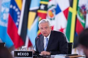 Presidente de México, Andrés Manuel López Obrador, anfitrión de la reunión cumbre de la Celac en la capital mexicana. Foto: Presidencia de México.