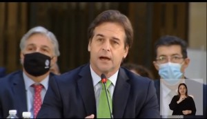Luis Lacalle, presidente derechista de Uruguay. Foto: Presidencia de México.